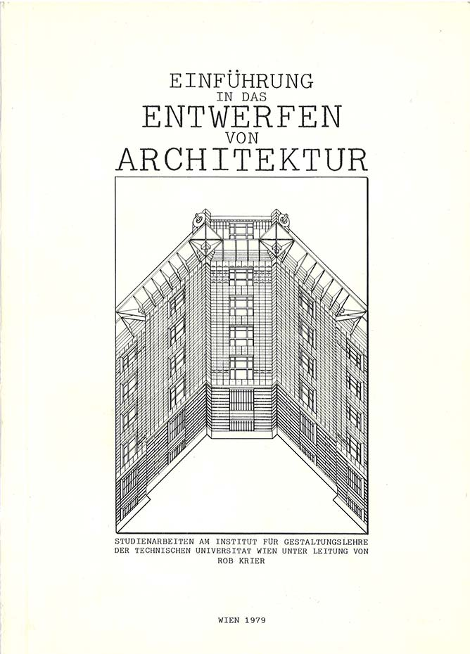 "Cover of the book ""Einfuehrung in das Entwerfen von Architektur"""